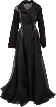 Yang Li , Long Coat Dress Women Silkcottonlinenflax 42, Women's, Black