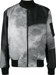Christopher Raeburn , Moon Print Reversible Bomber Jacket Men Polyesterrecycled Polyester L, Black