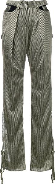 Esteban Cortazar , Cut Out Trousers Women Polyamidepolyesterspandexelastaneacetate 38, Grey