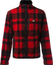 Ralph Lauren Denim & Supply , Checked Zip Cardigan Men Polyester M, Red