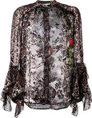 Preen By Thornton Bregazzi , Floral And Snakeskin Print Blouse Women Silkviscose S