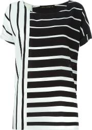 Alexandre Vauthier , Graphic Print Blouse Women Silk 36, Women's, Black