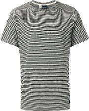 Bleu De Paname , Striped T Shirt Men Cotton S, Black
