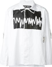 Liam Hodges , Sound Wave Print Shirt Men Cotton S