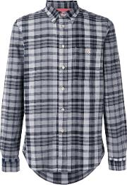 Paul By Paul Smith , Checked Shirt Men Cottonlinenflax M, Black