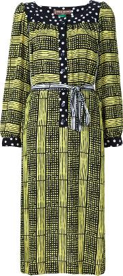 Duro Olowu , Printed Tunic Dress Women Silkrayon 6, Women's, Black