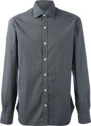 Barba , Diamond Print Shirt Men Cotton 41