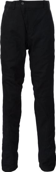 Devoa , Leather Trim Trousers Men Cottoncalf Leatherpolyester 5