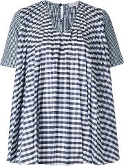 Dice Kayek , Gingham Pleated Blouse Women Silkpolyester 40, Women's, Black