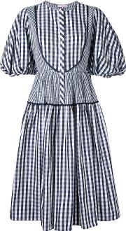 Dice Kayek , Gingham Puff Sleeve Dress Women Silkpolyester 38