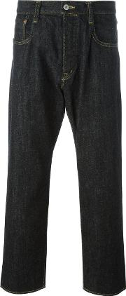Ganryu Comme Des Garcons , Wide Leg Jeans Men Cotton M, Black