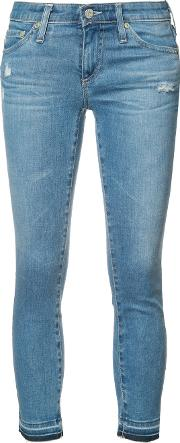 Ag Jeans , Cropped Skinny Jeans Women Cottonpolyurethane 30