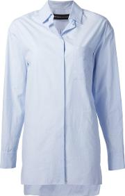 Alexandre Vauthier , Long Shirt Women Cotton 38, Women's, Blue
