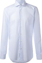 Barba , Curved Hemline Shirt Men Cotton 41, Blue
