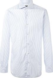 Barba , Pleated Cuffs Shirt Men Cotton 42, Blue