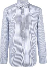 Barba , Striped Shirt Men Cottonlinenflax 38