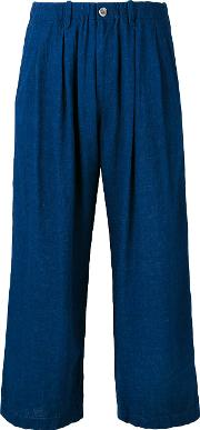 Blue Blue Japan , Cropped Trousers Women Rayonlinenflax S
