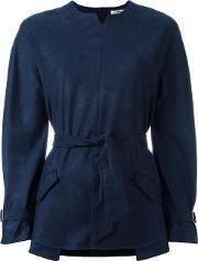 Cacharel , Belted Blouse Women Acetateviscosevirgin Wool 38, Women's, Blue