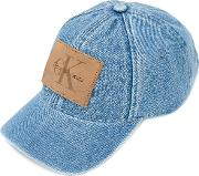 Calvin Klein Jeans , Logo Patch Hat Men Cottonleatherpolyester One Size