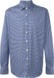 Canali , Checked Shirt Men Cotton L, Blue