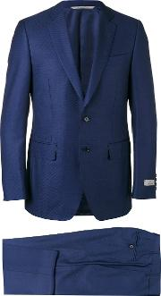 Canali , Two Piece Suit Men Cuprowool 48, Blue