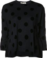 Comme Des Garcons , Polka Dots Jumper Women Acetatewool M, Women's, Blue