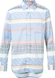 Engineered Garments , Striped Shirt Men Cotton M, Blue