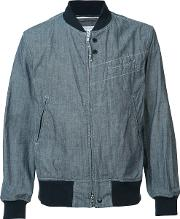 Engineered Garments , Zipped Bomber Jacket Men Cotton M, Blue