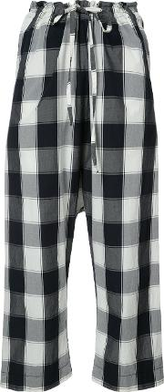 Forme Dexpression , Forme D'expression Gingham Print Cropped Trousers Women Cotton Xs