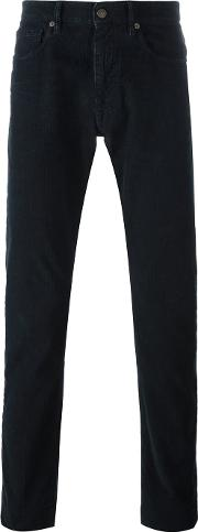 Incotex , Textured Trousers Men Cottonspandexelastane 32, Blue