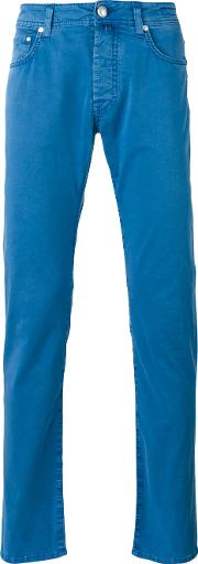 Jacob Cohen , Tapered Jeans Men Cottonspandexelastane 33