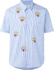 Jimi Roos , Smiley Face Print Shirt Men Cotton L