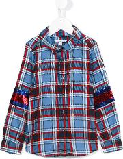 Little Marc Jacobs , Checked Shirt Kids Polyester 8 Yrs, Girl's, Blue