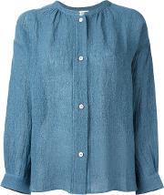 Masscob , Crumpled Shirt Women Linenflaxpolyamide M, Women's, Blue