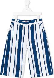 Miss Blumarine , Striped Trousers Kids Cottonpolyester 12 Yrs, White