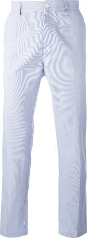 Mp Massimo Piombo , Striped Slim Fit Chinos Men Cotton 50