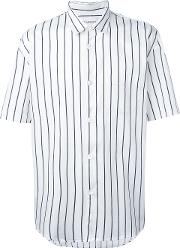 Our Legacy , Striped Shortsleeved Shirt Men Cotton L, White