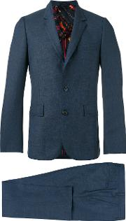 Paul Smith London , Two Piece Suit Men Viscosewool 44, Blue