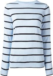 Preen By Thornton Bregazzi , Striped Jumper Women Acrylicvirgin Wool M, Women's, Blue