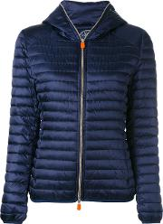 Save The Duck , Zipped Padded Jacket Women Nylonpolyester 1, Women's, Blue
