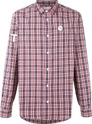 Sold Out Frvr , Printed Checked Shirt Men Cottonspandexelastane L, Pinkpurple