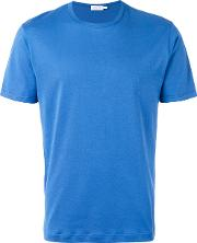 Sunspel , Crew Neck T Shirt Men Cotton L, Blue