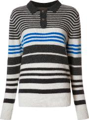 The Elder Statesman , Striped Jumper Women Cashmere M, Women's, Blue
