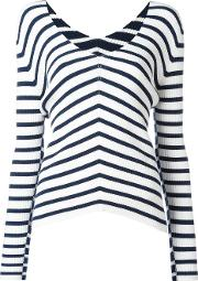 Twinset , Twin Set V Neck Striped Jumper Women Viscosepolyester Xl, White