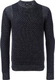 Theory , 'cellan C' Cable Knit Jumper Men Merino Xl, Blue