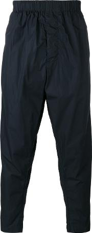 Casey Casey , Gathered Waist Tapered Trousers Men Cotton S, Blue