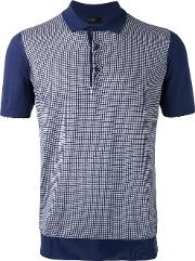 Corneliani , Grid Polo Shirt Men Cotton 52, Blue