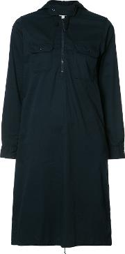 Engineered Garments , Zipped Neck Shirt Dress Women Cotton 1