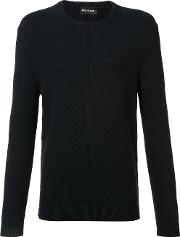 Exemplaire , English Ribbed Crew Neck Jumper Men Cashmere L, Blue