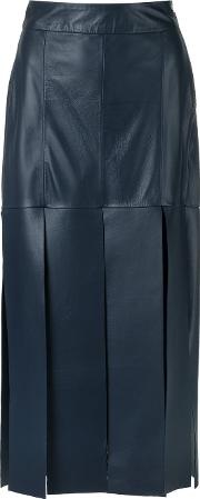 Giuliana Romanno , Leather Midi Skirt Women Leather 38